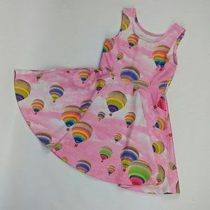 Pink dress hot air balloon print M/M 1989 place